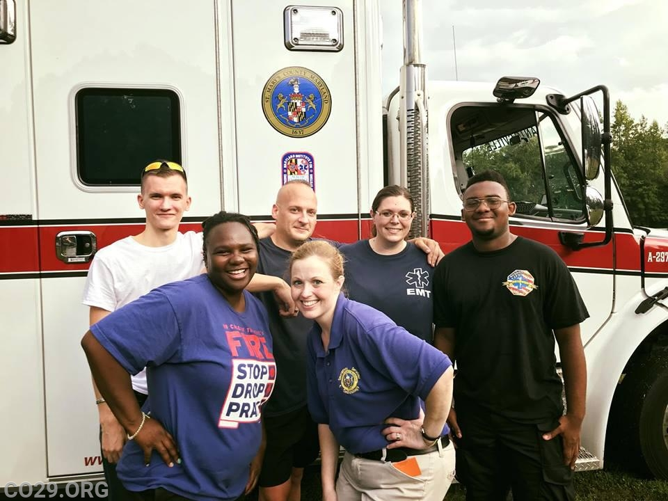 J. Peters, C.Holloway, D. Monfort, C. Armstrong.  Sgt. V. Powell and County Recruitment Coordinator K. Bell.